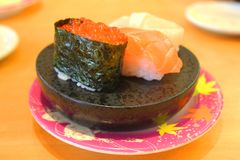 Shushi japan food. Japan food in the restaurant in japan stock photos