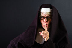 Shushing Nun Stock Image