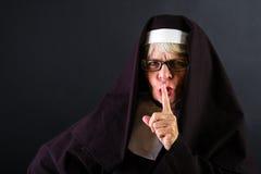 Shushing Nun Stock Image