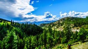 Shuswap-Hochländer von Dick Hart Park auf dem Heffley-Sun ragt Straße im Britisch-Columbia, Kanada empor lizenzfreies stockfoto