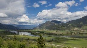 Shuswap jezioro w lecie Zdjęcia Royalty Free