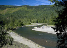 Shuswap River by Vernon, British Columbia, Canada Royalty Free Stock Photography