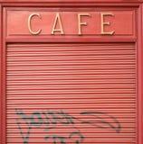 Shut down caf� Stock Photo