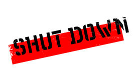 Shut Down rubber stamp Royalty Free Stock Photo
