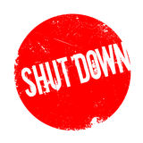 Shut Down rubber stamp Stock Photo