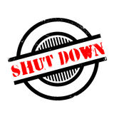 Shut Down rubber stamp Royalty Free Stock Images