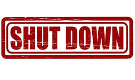 Shut down. Rubber stamp with text shut down inside,  illustration Stock Image