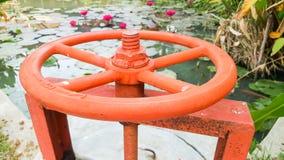 Shut off valve Barrage Royalty Free Stock Photos