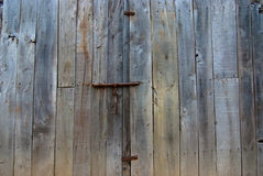 Shut rustic door Stock Photos