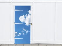 Shut sky door Stock Image