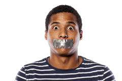 Shut up mouth Royalty Free Stock Image