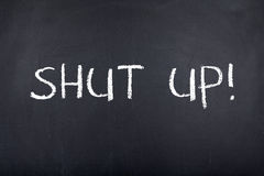Free Shut Up Note Stock Photography - 45771332