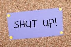 Shut Up Note Stock Image
