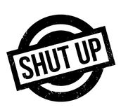 Shut Up rubber stamp Royalty Free Stock Images