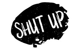 Shut Up rubber stamp Stock Image