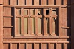 Shut wooden window Stock Photo