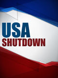 Shutdown Closed United States of America Backgroun Stock Images