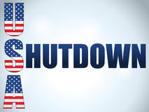 Shutdown Closed United States of America Backgroun Stock Image