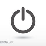 Shutdown - flat icon. Shutdown flat icon. Sign Shutdown. On, Off button. Vector logo for web design, mobile and infographics. Vector illustration eps10. Isolated Stock Photography