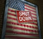 Shutdown Government Symbol Royalty Free Stock Photo