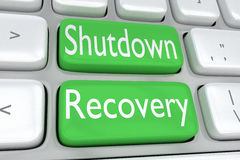 Shutdown Recovery concept Royalty Free Stock Images