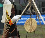 Shooting by archery Royalty Free Stock Photography