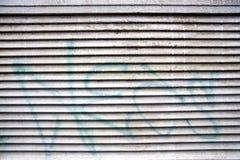 Shutter. A shutter with a written on Stock Photo