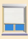 Shutter. View from a Royalty Free Stock Photo