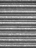 Shutter. Corrugated stainless steel shutter Stock Photos