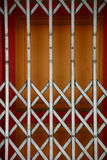 Shutter. Front grille of a closed shop royalty free stock photo