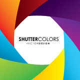 Shutter colors. Shutters colors over colorful background vector illustration Stock Images