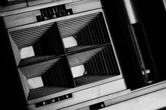 Shutter curtain of 4-frame camera Stock Images