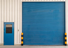 Shutter Door. Or  Rolling door popular for factory Stock Photos