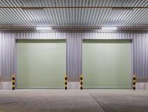 Shutter door night Stock Image