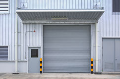 Shutter door. Outside of factory royalty free stock photography