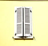 Shutter europe  italy  lombardy       in  the milano old    bric Royalty Free Stock Images