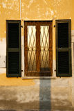 shutter europe  italy  lombardy       in  the milano old   windo Stock Photo