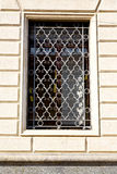 Shutter europe  italy         in  the milano old   window closed Royalty Free Stock Photography