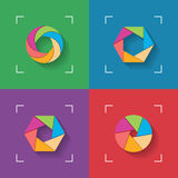 Shutter flat icons Stock Images