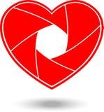 Shutter heart shaped. Stock Photos