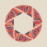 Shutter icon. Polygon shutter icon sign. Illustration Royalty Free Stock Images