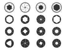 Shutter icons royalty free illustration