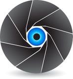 Shutter logo. Illustration art of a eye shutter logo with  background Royalty Free Stock Photography