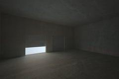 Shutter opening in dark room Stock Photos