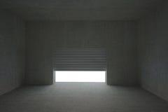 Shutter opening in dark room Royalty Free Stock Photo