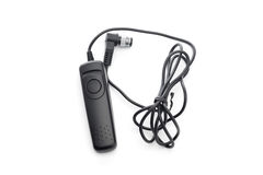 Shutter release cable for digital camera Stock Photo