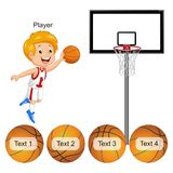 Activity - basketball and ball matching royalty free illustration