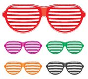Shutter shades sun glasses collection Stock Images