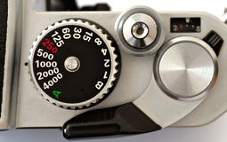Shutter speed dial Stock Images