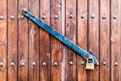 Shuttered door Stock Image